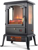 LIFE-SMART-Quartz-Infrared-Electric-Fireplace-with-Remote-Control