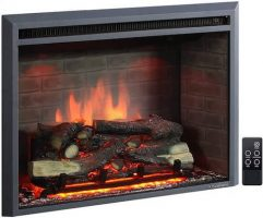 PuraFlame-33-Inches-Western-Electric-Fireplace-Insert